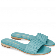 Mules Hanna 26 Woven Turquoise