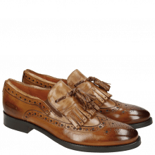 Mocassins Roberta 10 Tan Tortora Elastic Mid Brown