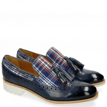 Mocassins Amelie 60 Textile Check Sky Blue Multi
