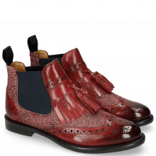 Bottines Selina 5 Ruby Hairon Halftone Wine