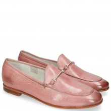 Mocassins Scarlett 22 Glove Nappa Pink Salt Trim Gold