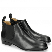 Bottines Sally 16 Salerno Black Elastic Black HRS