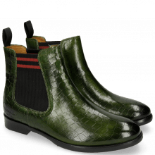 Bottines Daisy 6 Ultra Green Elastic Lines Red