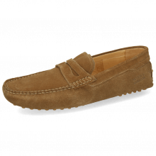 Mocassins Nelson 2 Suede Pattini Tan