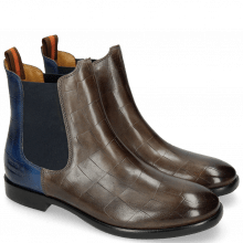 Bottines Jenny 2 Turtle Grigio Electric Blue