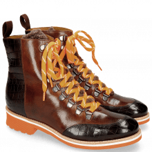 Bottines Amelie 71 Crock Mogano Wood Sherling Cognac