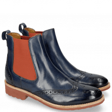 Bottines Amelie 5 Marine Elastic Orange