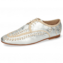 Derbies Aviana 2 Silver Nappa Interlaced