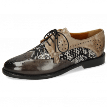 Derbies Selina 41 Grigio Textile Serpete London Fog Oxygen