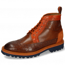 Bottines Matthew 9 Venice Crock Mid Brown Winter Orange Suede Pattini Orange