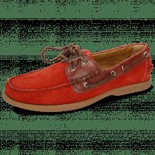 Chaussures bateau Jason 1 Suede Pattini Pompei Venice Turtle Plum