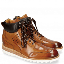 Bottines Trevor 28 Tan Nappa Dark Brown