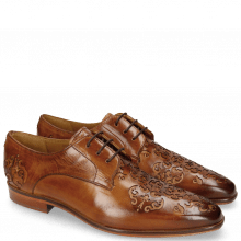 Derbies Emma 7 Tan Lasercut Ethnic