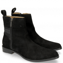 Bottines Marlin 32 Suede Chilena Black Nappa Black