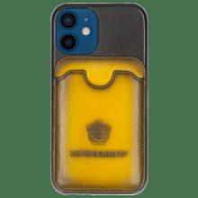 Coque iPhone Twelve Mini Vegas Black Wallet Yellow