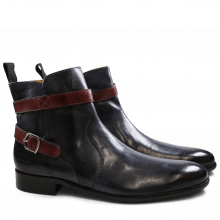 Bottines Henry 9 Navy Strap Burgundy