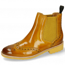 Bottines Selina 6 Indy Yellow Elastic Ribbed Mustard