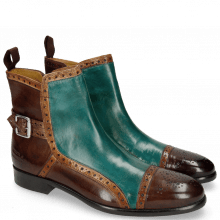 Bottines Henry 2 Dark Brown Tan Green
