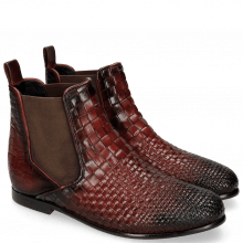 Bottines Lina 2 Interlaced Ruby