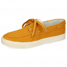 Chaussures bateau Adrian 8 Canvas Orange Natural