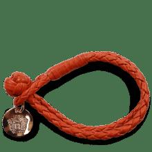 Bracelets Caro 1 Woven Winter Orange Accessory Rose Gold