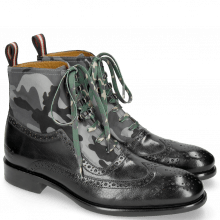 Bottines Patrick 21 Classic Black London Fog Textile Camo
