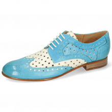 Derbies Sally 66 Imola Abyss Turquoise Perfo White