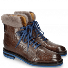 Bottines Trevor 19  Crock Stone Electric Blue Fur Taupe