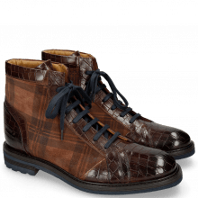 Bottines Trevor 18 Crock Mid Brown Suede Check Mogano