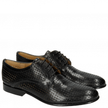 Derbies Sally 17 Venice Perfo Diamont Black