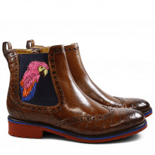 Bottines Amelie 47 Crock Crust Tobacco Tobacco Elastic Purple Embrodery Parrot Rook D Red EVA Blue