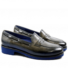 Mocassins Kelly 8 Crust Grey Blue Finish WL Blue