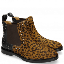Bottines Katrin 3 Hair On Leo Cappu Black Rivets