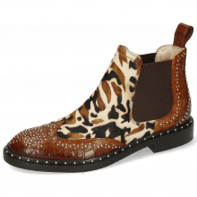Bottines Sally 45 Crock Mid Brown Tan Hairon Mucca Multi Byenic Rivets