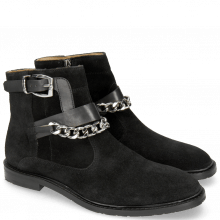 Bottines Katrin 5 Suede Pattini Black Sword Buckle