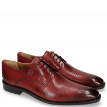 Derbies Xabi 3 Venice Lizzard Ruby M&H Rubber Navy