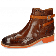 Bottines Selina 25 Crock Guana Wood Strap Winter Orange