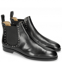 Bottines Susan 37 Black Elastic Black Rich Tan