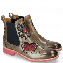 Bottines Amelie 44 Morning Grey Embrodery BBF Rubber Pink