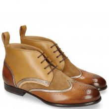 Bottines Sally 30 Tan Nappa Aztek Gold Suede Chilena
