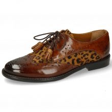 Derbies Selina 41 Wood Hairon Leo Cognac