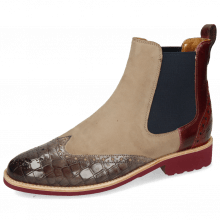 Bottines Selina 29 Crock Deep Steel Burgundy Suede Elephant