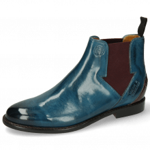 Bottines Selina 39 Mid Blue Elastic Burgundy