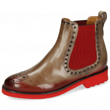 Bottines Selina 42 Digital Shade Ruby Elastic Ribbed Red