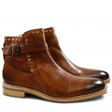 Bottines Tom 6 Milano Cognac Mixed Rivets Crepe