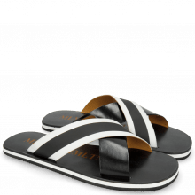 Mules Sam 5 Black Elastic Rifra Black White