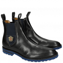 Bottines Eddy 27 Crock Black Strap Embrodery