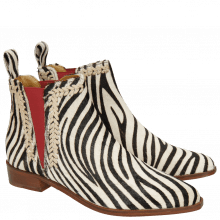 Bottines Marlin 10 Hairon Zebra Vacchetta