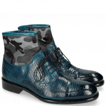 Bottines Patrick 4 Guana Mid Blue Textile Camo