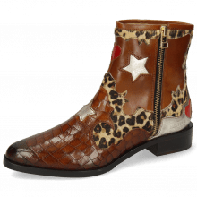 Bottines Marlin 12 Crock Mid Brown Hairon Leo Medio Cognac